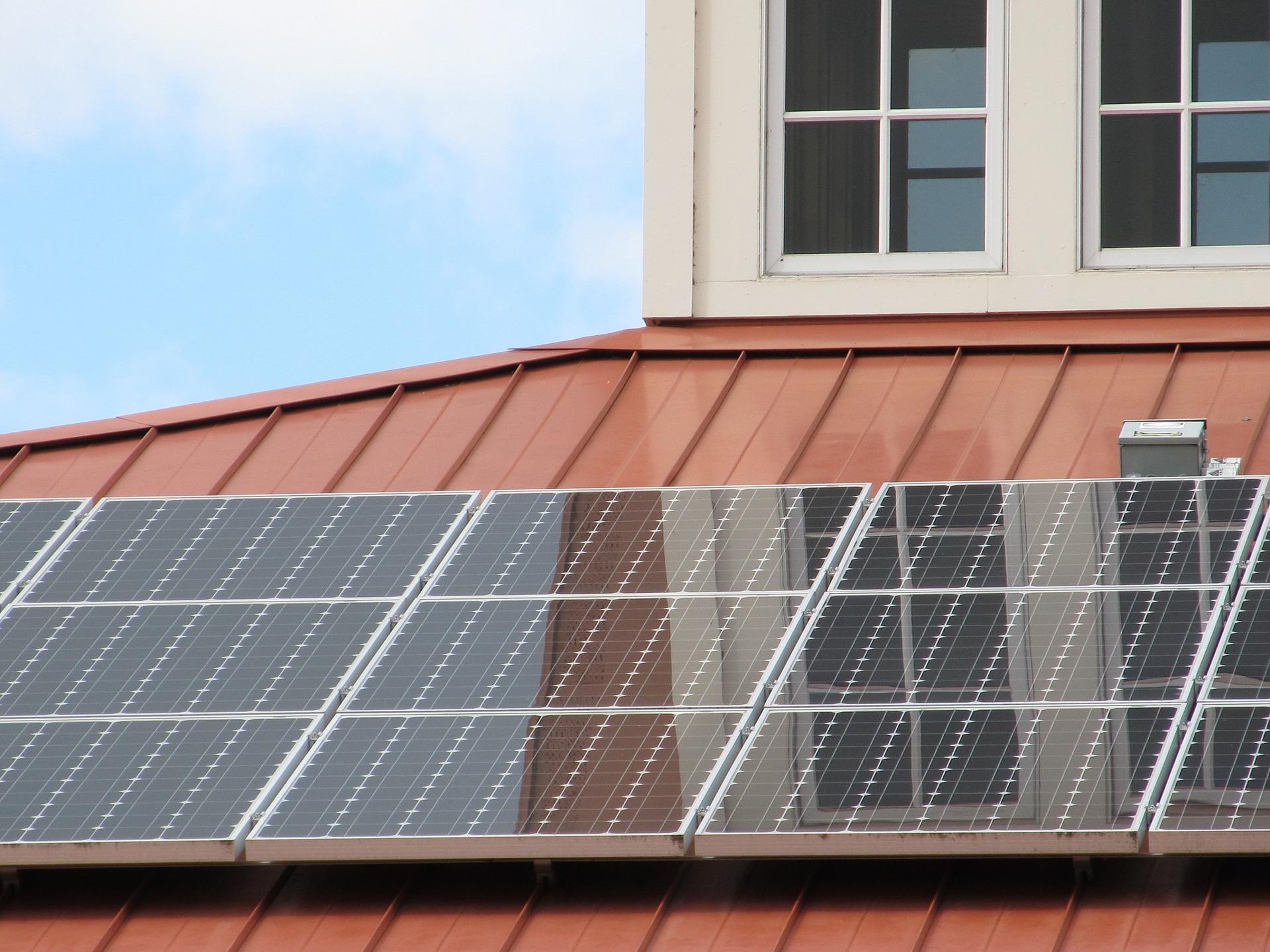 太陽光発電を設置している家